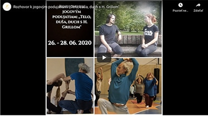 Video pozvánka na jógové podujatia s Heinzom Grillom – telo, duša a duch
